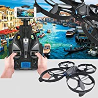 Leewa@ New iDrone i3HW 2.4G 6-Axis Gyro 2.0MP Wifi FPV Live HD Camera RC Quadcopter -Black