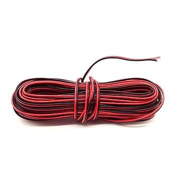 Rot und Schwarz Draht 10 m Silikon Gummi Draht rot: Amazon.de ...