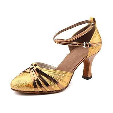 IOSHAPO Zapatos de Baile para Mujer Cómodo Respirable