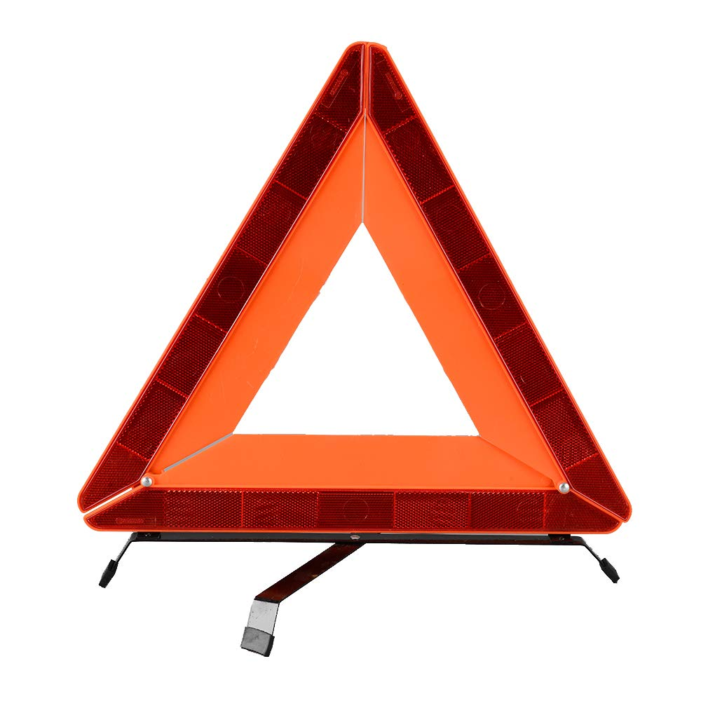 ECE Zertifiziert mit 2 Jahren Geld-zur/ück-Garantie Sicherung von Unfall- und Gefahrenstellen AYKRM arndreieck Euro mit Aufbewahrungsbox Rot