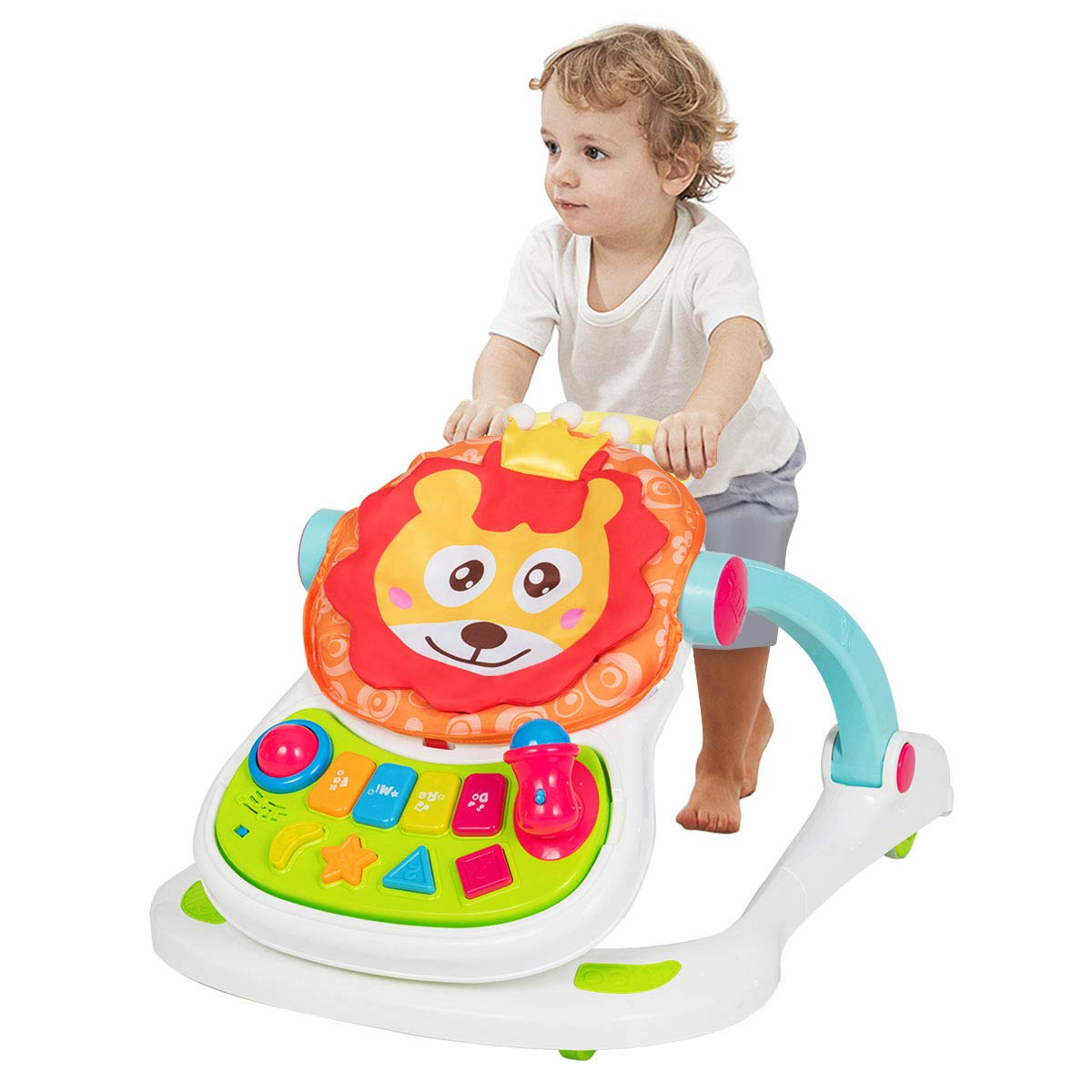 Amazon Com Baby Joy Sit To Stand Walker 4 In 1 Baby Walker