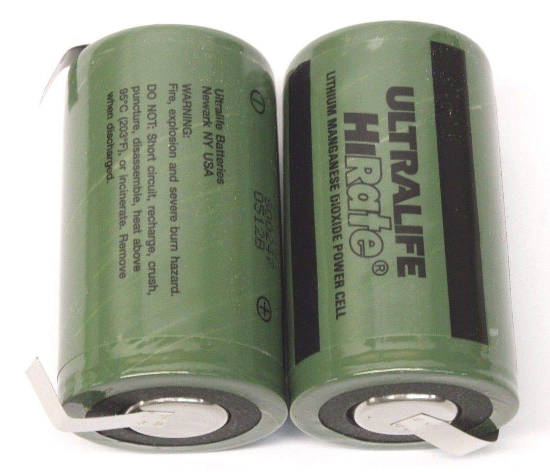Ultralife U10014 (UHR-CR34610) Non-rechargeable LiMnO2 D Cell Battery w/ End Caps & Re-settable Fuse by Ultralife