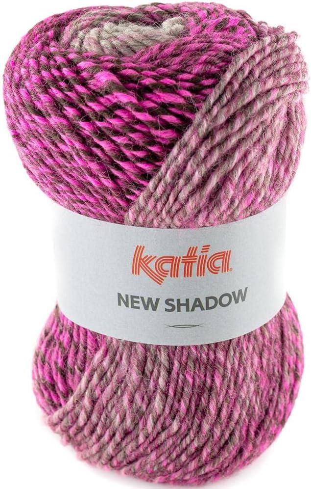 NEW SHADOW de Lanas Katia. Ovillo de color fucsia Cod. 305