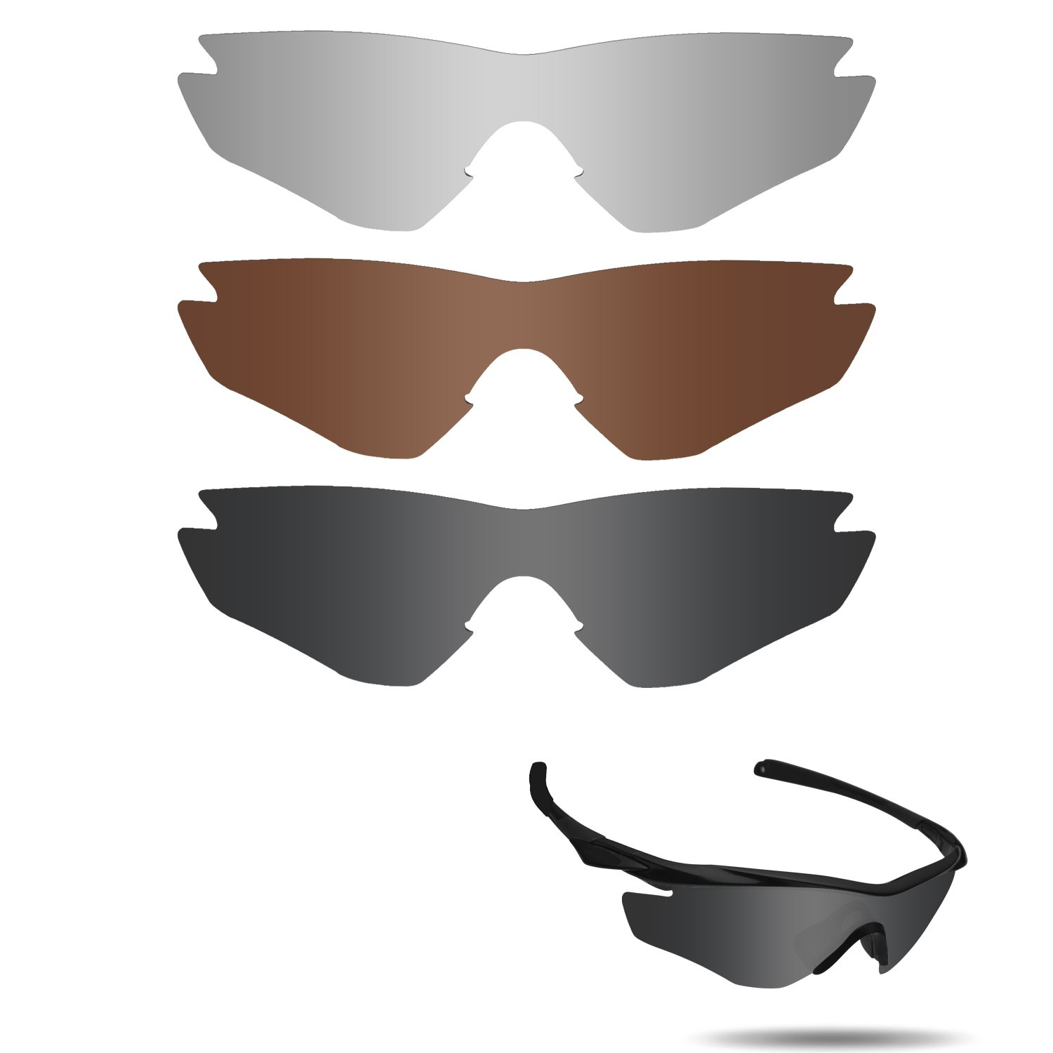 【2019正規激安】 fiskr anti-saltwater偏光交換レンズOakley Radar & Path Vented fiskr 3ペアパック B0711LDVHT Stealth Bronze Black & Metallic Silver & Bronze Brown, 牡鹿郡:bc89af52 --- vilazh.indexis.ru