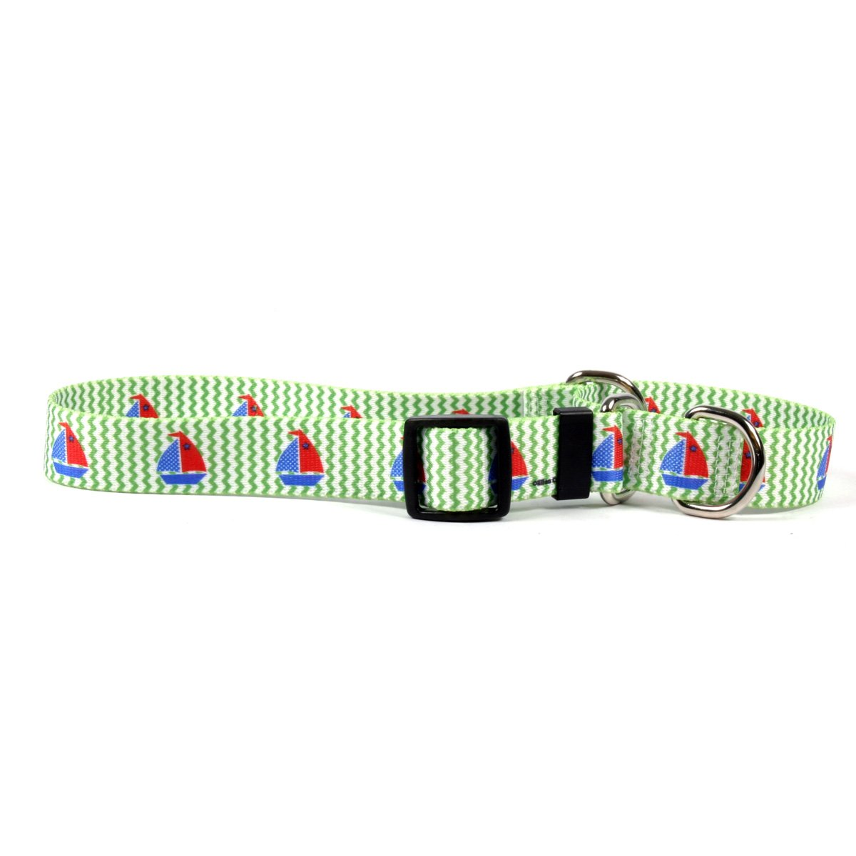 Yellow Dog Design Toy Boats Martingale Dog Collar-Size Large-1 Inch Wide and fits Neck sizes 18 to 26 inches