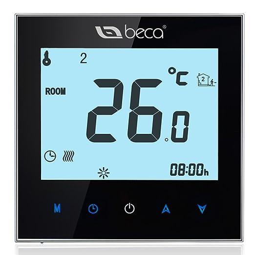 2 opinioni per Termostato di controllo della caldaia, BECA interruttore LCD Touch Screen 3A
