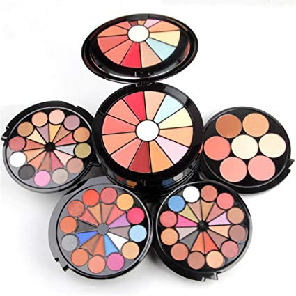 JasCherry Paleta de Sombras de Ojos 91 Colores de Estuche de Maquillaje Cosmético - Incluye Corrector Camuflaje y Bronzer y Rubor y Polvos Compactos y Brillo Labios: Amazon.es: Belleza