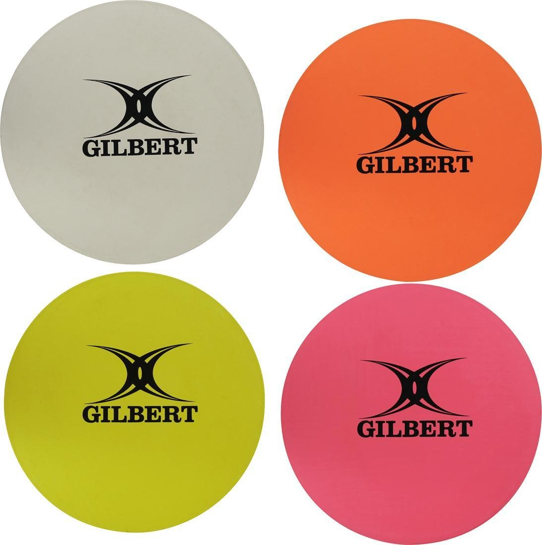 Gilbert Rugby Sports Training Boundary Marking Rubber Disc Assorted Pack Of 16