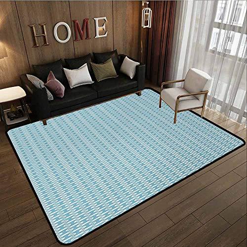 - Outdoor Patio Rug,Abstract,Anti-Slip Doormat Footpad Machine Washable,4'7