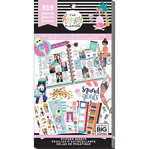 me & My Big Ideas PPSV-74-3048 The Happy Planner Stickers, Squad Goals by Me & My Big Ideas