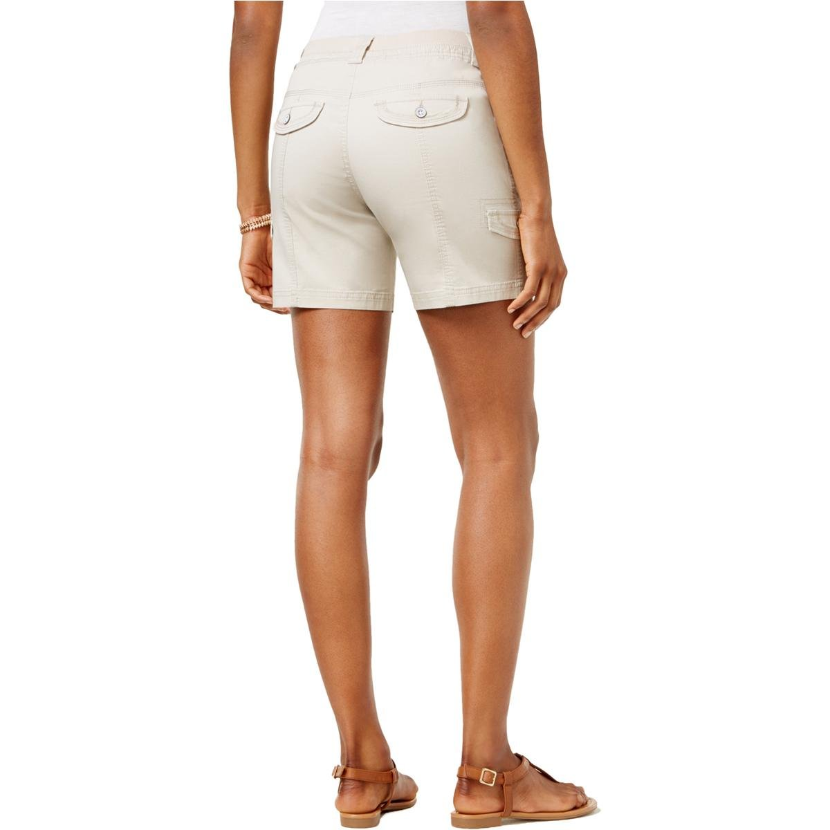 Style & Co.. Womens Petites Mid-Rise Comfort Waist Cargo Shorts Tan 12P by Style & Co. (Image #2)