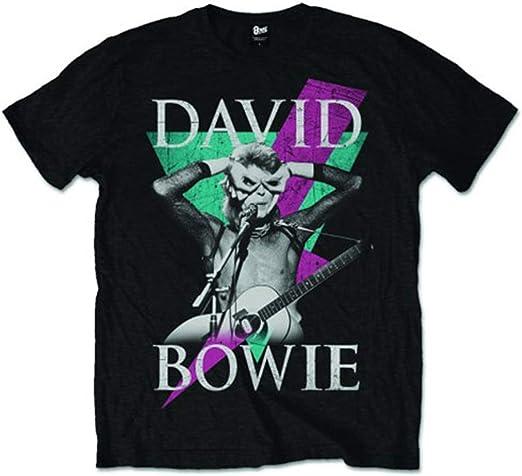 David Bowie Thunder Camiseta Manga Corta para Hombre
