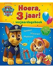 Paw Patrol Hoera, 3 jaar! Verjaardagsboek: Spelen! Kleuren! Plakken! Met herbruikbare stickers
