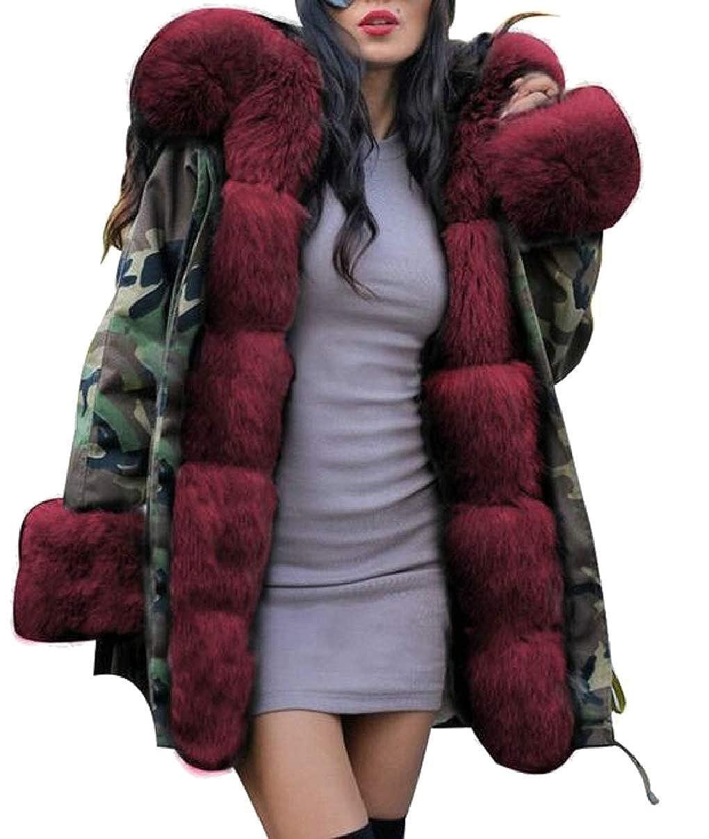 2 LEISHOP Women Winter Thicken Warm Hood Parka Overcoat Long Jacket Outwear