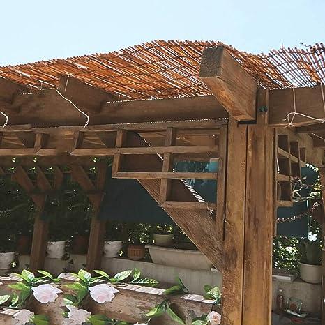 L-KCBTY Cortina De Bambú | Persianas Enrollables con Filtro Solar|Decorativas Vintage|Sombrilla Impermeable| para Interiores/Exteriores|Toldo Vertical: Amazon.es: Hogar