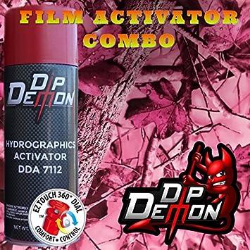 Combo Kit Rosa Nueva caída hojas de película de transferencia de agua hidrográfico Activador Combo Kit Hydro para salsas Dip Demon: Amazon.es: Juguetes y ...