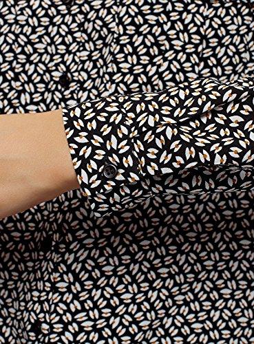 Poches Basique 2933g avec Viscose Poitrine Ultra en Femme oodji Chemisier Noir de w0nFSqxp7H