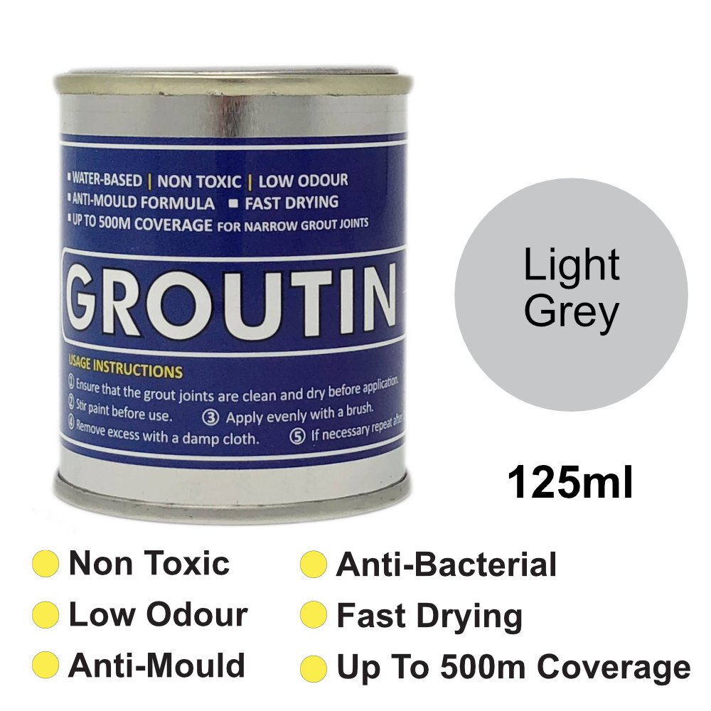 Light Grey Groutin Grout Reviver, Restore & Revive old grout