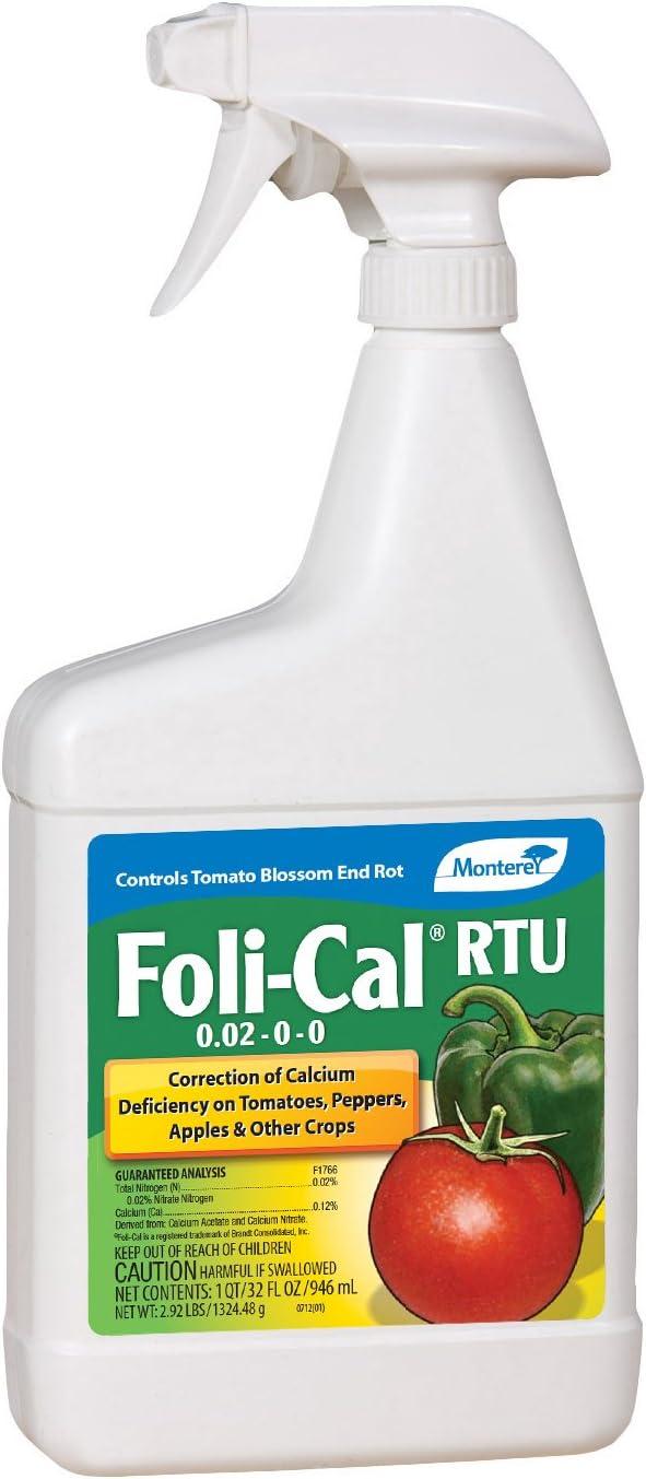 Monterey Lawn and Garden LG7198 RTU Foli-Cal Calcium Concentrate Fertilizer, 32-Ounce