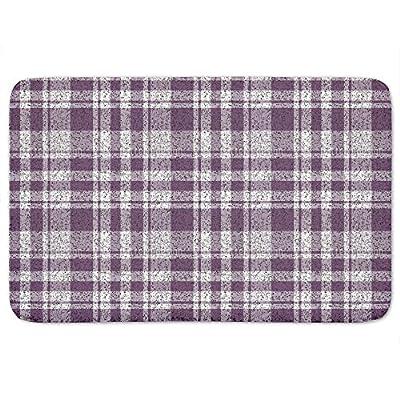 Speckles Checkered Bathroom Rugs Incrediby Soft Memory Foam Spa Quality
