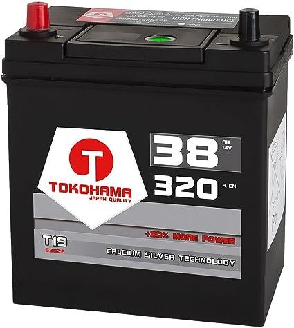 ASIA Autobatterie 12V 40Ah 330A//EN Varta A15 Starterbatterie Japan Pluspol links