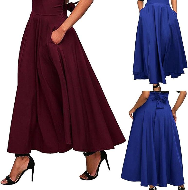 LILICAT❋ Rojo, Azul Ranura Lateral con Falda Vestido Vintage ...