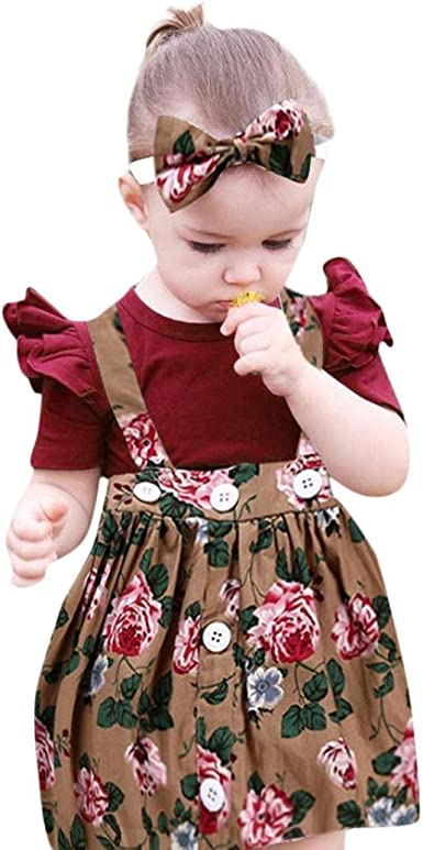 Vintage Ruffled Floral Baby Girl Headband Accessory Set for Spring and Summer Baby Fashion