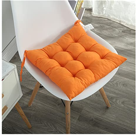 Pask Of 2 Chair Cushions Pads Indoor Dining Chair Pad Seat Cushion With  Ties (orange