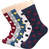 XSBQBC 5 Pairs Women's Cute Cartoon Animal Casual Cotton Crew Socks
