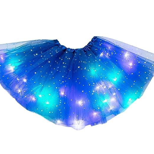Hule falda tutú para mujer, falda de ballet, falda tutú con luz ...