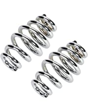 """3"""" Steel Solo Seat Spring For Harley Custom Motorcycle Chopper Bobber Softail,CICMOD,(Silver,1 Pair)"""
