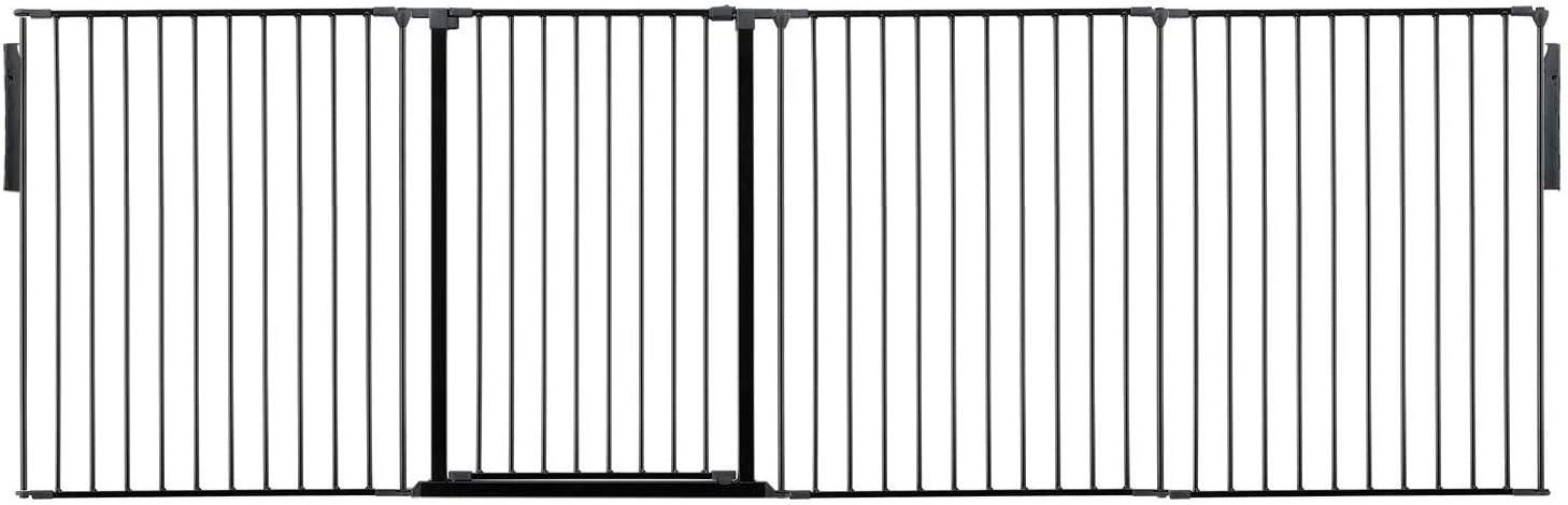 Black, Upto 118cm Safetots Extra Tall Room Divider All Widths