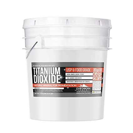 Titanium Dioxide,1 Gallon Bucket (5 5 lb) by Earthborn Elements, Food  Grade, Non-GMO, Pure Colorant, Whiten/Brighten, Toothpaste, Sunscreen,