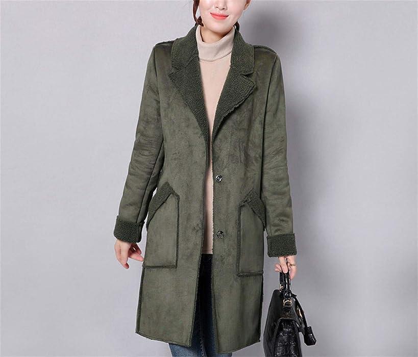 Winter Jacket Women Suede Lambs Wool Coat Thick Cotton Padded Maxi Coats Long Jacket Female Parka Coat Women