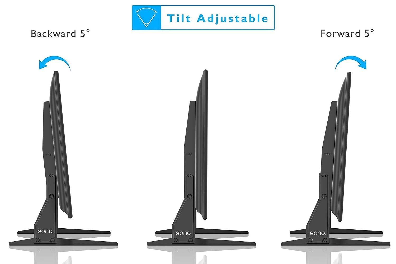 Support TV Pieds sur Table avec Hauteur Ajustable pour Ecran TV//PC//LED//Plasma 23 /à 37 Pouces Eono by