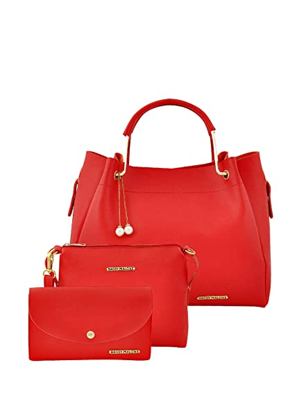 8212c2dbfb Bagsy Malone Women s Messenger Bag with Yes (Red) (Set of 3)  Amazon.in   Shoes   Handbags