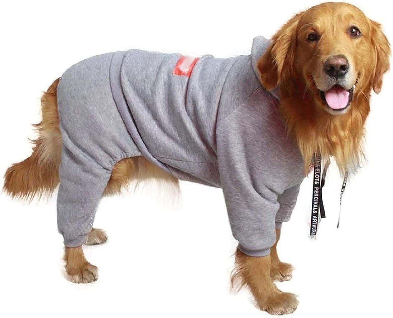 IUOU Fashion Large Dog Pet Clothes Warm Four-Legged Coat Winter Hoodie Medium Big Clothing Ropa Perro Jacket French Bulldog Hondenjas