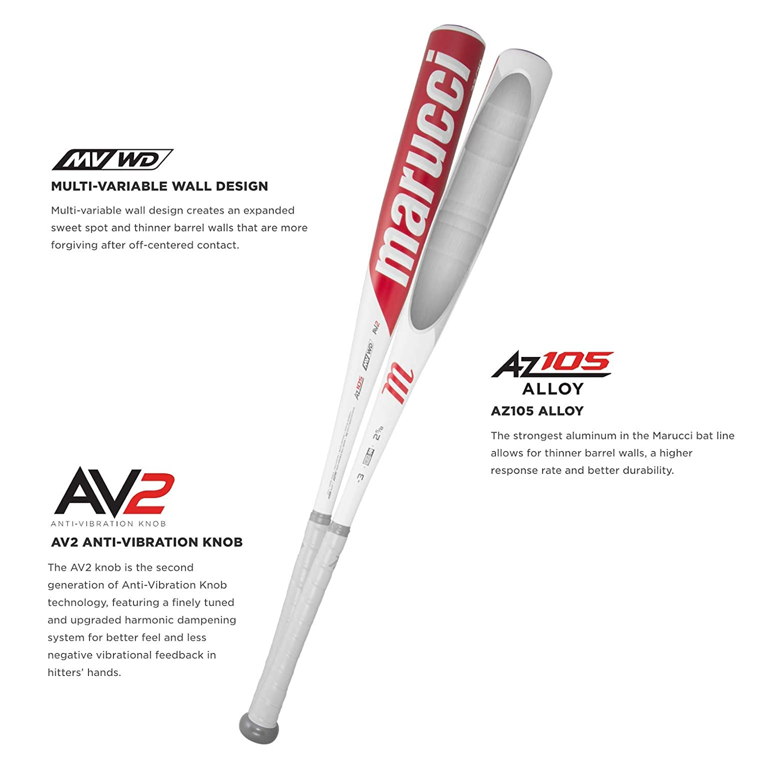 Marucci Cat 8 BBCOR -3 Metal Baseball Bat with 1mm Bat Grip Tape Bundle