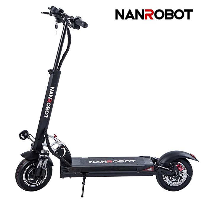 NANROBOT D5 + 2000 W Patinete eléctrico Ligero Plegable con batería de Largo Alcance DE 50 Millas de hasta 40 mph