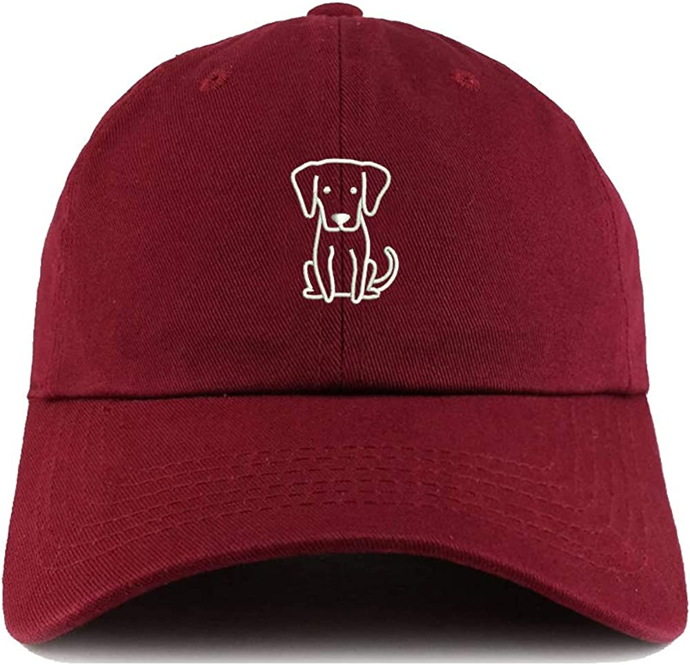 Weytff Funny Baseball Cap Cute Cartoon Animal Puppy Sytle 3 Red Wine Dad Hat Polo Style Snapback Youth
