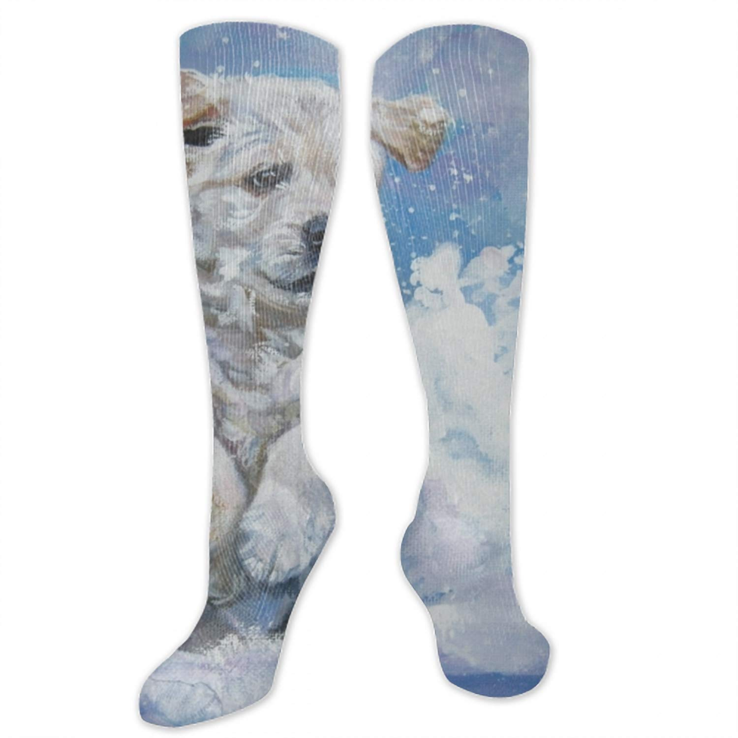 Golden Puppy Digital Art Personality Fashion Casual Polyester Socks