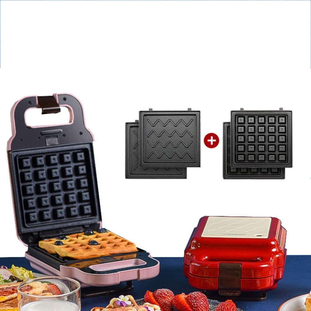 4 in 1 Waffle Maker Electric Cake Maker Toasting, Grilling Omelettes Breakfast Doughnut Sandwich Toaster for Household Kitchen
