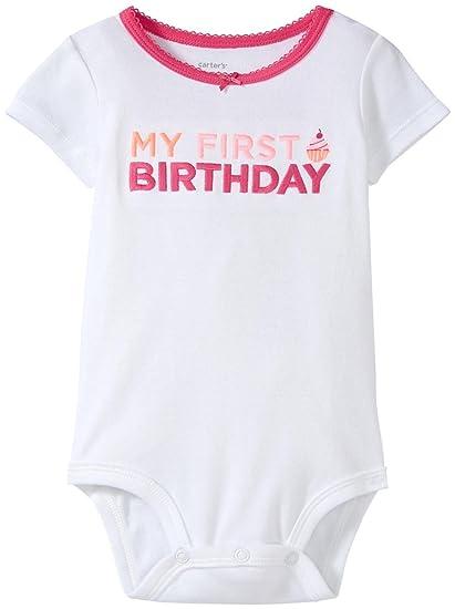 e6b454051 Carter's Baby Girls' Slogan Bodysuit 119g046, Mystbodysuit, 12 Months