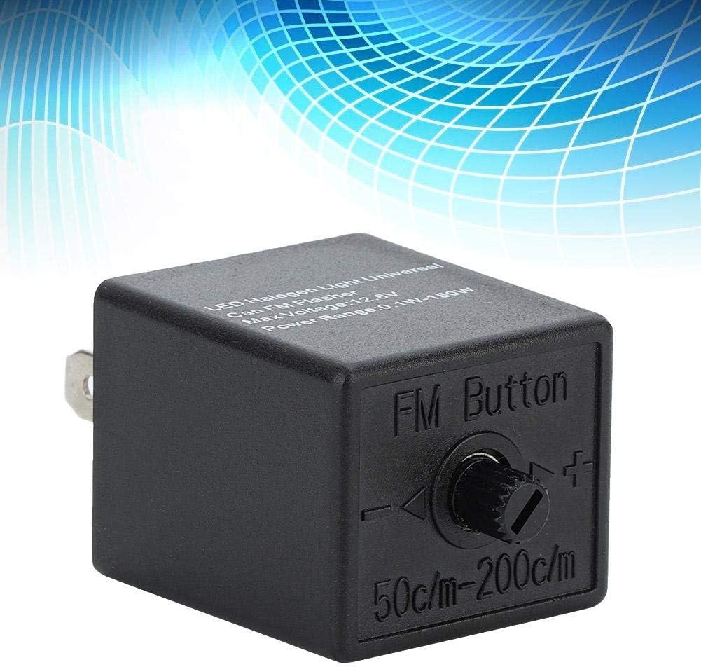 LED Flasher 12V 24V 3-PIN Adjustable LED Flasher Relay Turn Signal Light Blinker for Automotive Motorcycle ABS Plastic