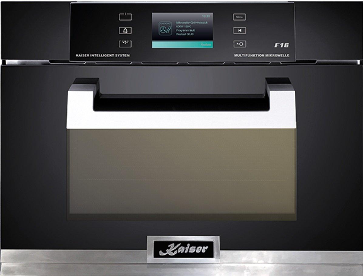 Kaiser EH 6319 empotrable de microondas - Horno multifunción con pantalla TFT/compacto 45 cm de alto/38L/TFT de pantalla/16 Funciones/Barbacoa, ...