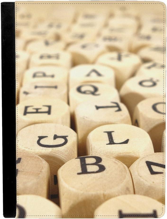 Scrabble Juego Junta Piezas de juego DADOS letras Apple iPad Pro 12.9 inch Funda de piel funda para tablet: Amazon.es: Electrónica