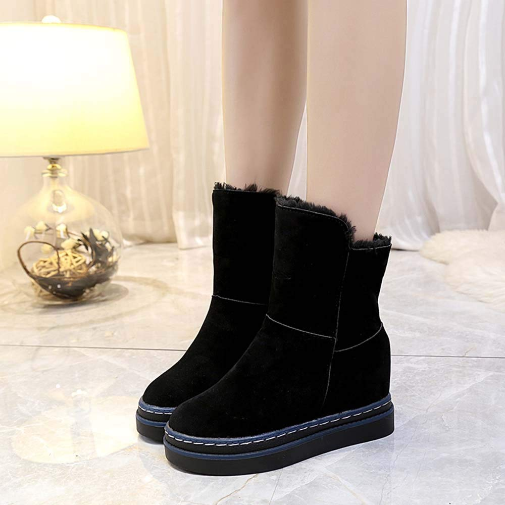 Hunzed Women Shoes Thick-Soled Warm Snow Boots Cotton Shoes with Velvet Boots