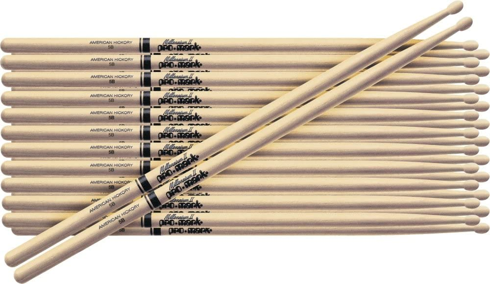 PROMARK 12-Pair American Hickory Drumsticks Wood 7A