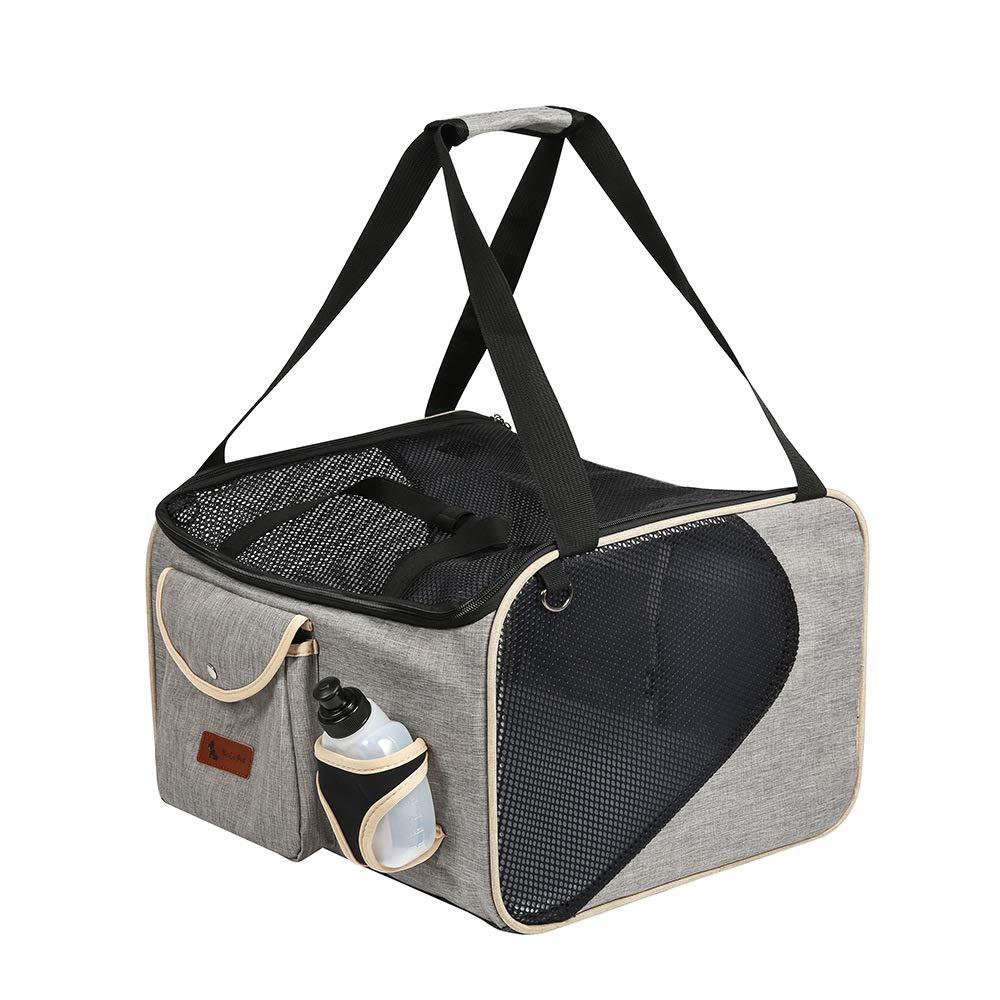 JYTNB Pet Zaino Carrier, Pet Cani Gatti Vettore Compagnia Aerea Approvata Viaggio Outdoor Borsa Portatile Cane Borsa Soft Comfort Oxford Tote Borsa (Grigio)
