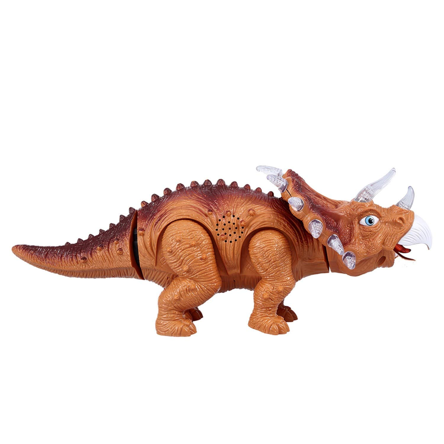 WomToy Walking Dinosaur Toys, Triceratops Dinosaur Toy Figure for Boys & Girls for Kids with Amazing Roar Sounds, Lights & Movement by WomToy (Image #7)
